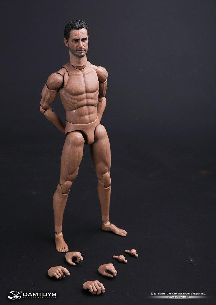 컬렉션 1/6 스케일 완구 좁은 어깨 몸 wlaking 죽은 릭 grimes 머리 male01 남성 02 바디 인형 완구-에서액션 & 장난감 숫자부터 완구 & 취미 의  그룹 1