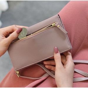 Image 5 - Universal Multifunction Women Wallet PU Leather Phone Bag Case For iPhone Samsung Xiaomi Huawei Credit Cards Slot Crossbody Bag