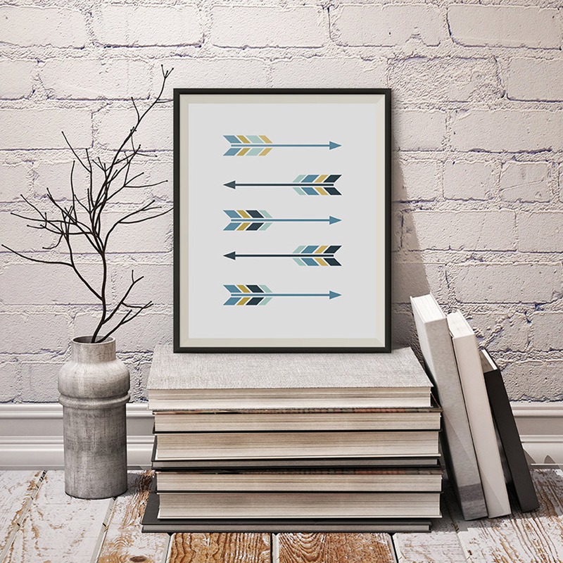 Buy new arrows canvas oil painting wall for Minimalist wall decor