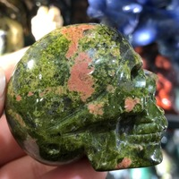 Manual sculpture The dragon blood stone mineral crystal skull specimens