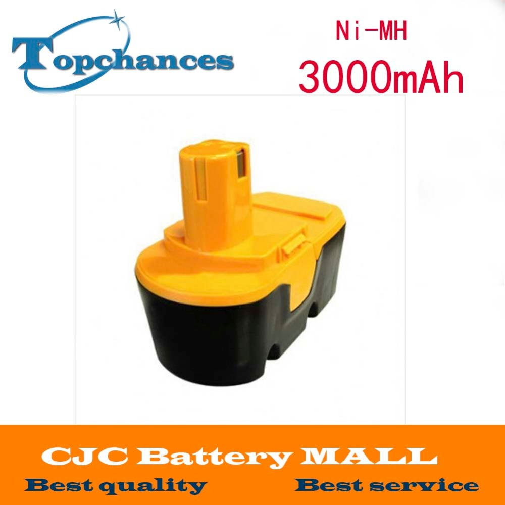 Eleoption Free Shipping New 18V Ni-MH 3.0Ah Replacement Power Tool Battery for Ryobi ABP1801 ABP1803 BCP1817/2SM