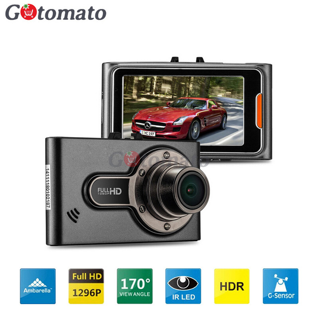 "Gotomato A7 Ambarella A7LA50 Car DVR Video Recorder G95A 2304*1296 30fps 2.7""LCD HDR G-Sensor H.264 Camera Video Recorder DashCa"