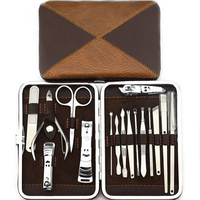 16pc Nail Art Tool Manicure Kit Pedicure Set Nail Clipper Trimmer Scissor With Case