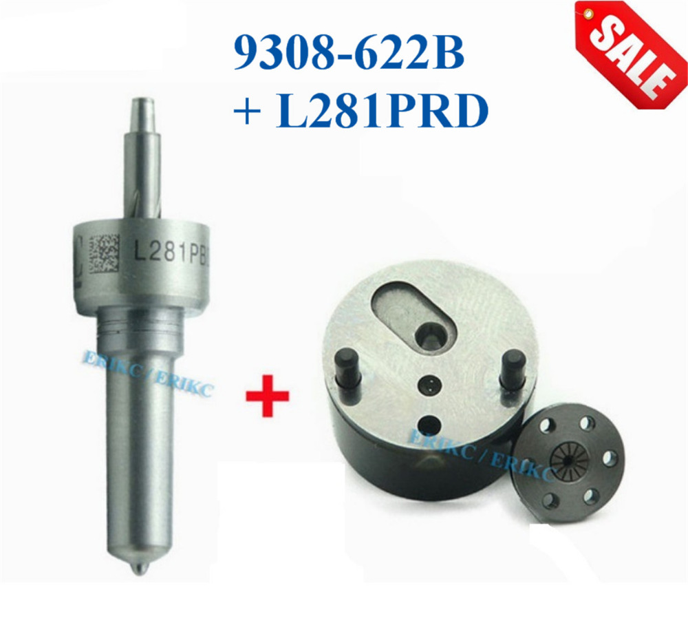 ERIKC Injector L281PRD Nozzle 9308-622B Control Valve Repair Kits 7135-623 Auto Fuel Diesel Common Rail Inyector for EJBR05501D