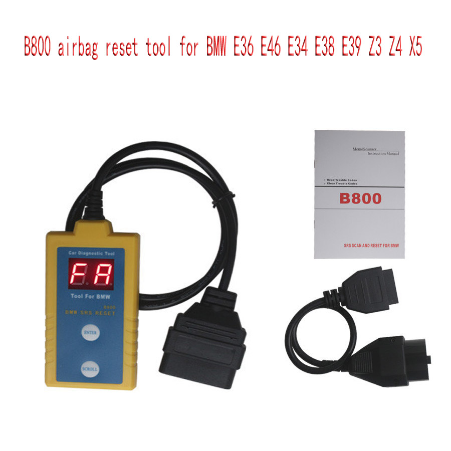 US $16 9 |Top Quality For Airbag Scan / Reset Tool B800 for BMW Fit E36 E46  E34 E38 E39 Z3 Z4 X5-in Air Bag Scan Tools & Simulators from Automobiles &