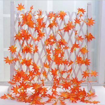 1pc, artificial Maple Leaf vine, 36 leaves 2.4 meter maple vine, simulation rattan, for Landscape Design, Home decoration C01 maple leaf
