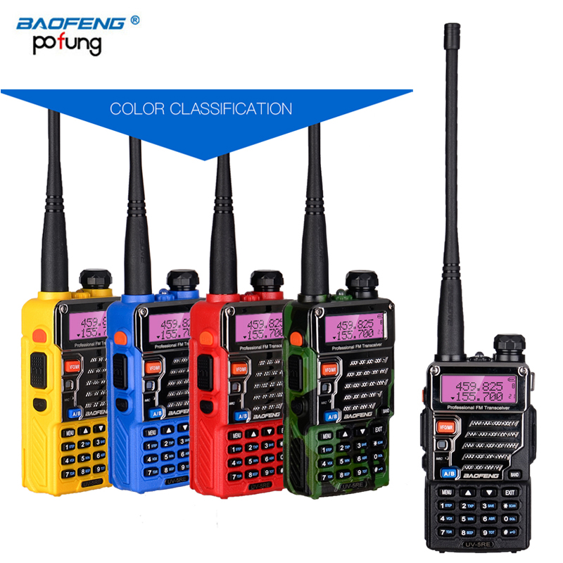 Baofeng UV-5RE Talkie Walkie Double Double Bande Jambon VHF UHF Radio Transceiver Station Boafeng Amador Scanner Woki Toki Pratique Wakie