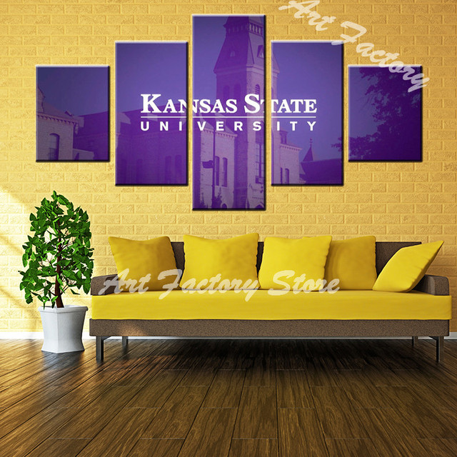 high quality 5 pieces high definition print about Kansas State ...