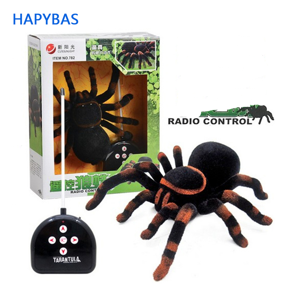 Learned Rc Electronic Pet Spider Giant Infrared Spider Latrodectus Black Widow Remote Controlled Tarantula Tricky Prank Scary Toy Gift Toys & Hobbies Electronic Pets