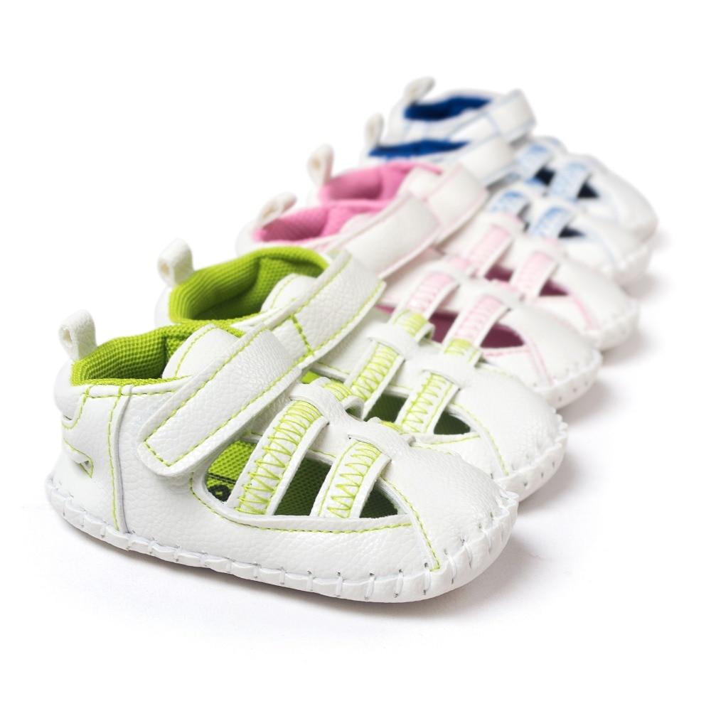 Tre farve nyfødte baby sandaler læder kvast baby mocassins hot moccs baby piger drenge sandaler 0 ~ 18month CX65A