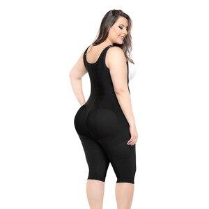 Image 4 - Женский тренажер для талии, Корректирующее белье, женское боди, моделирующий ремень, плотное Корректирующее белье, боди большого размера 6XL