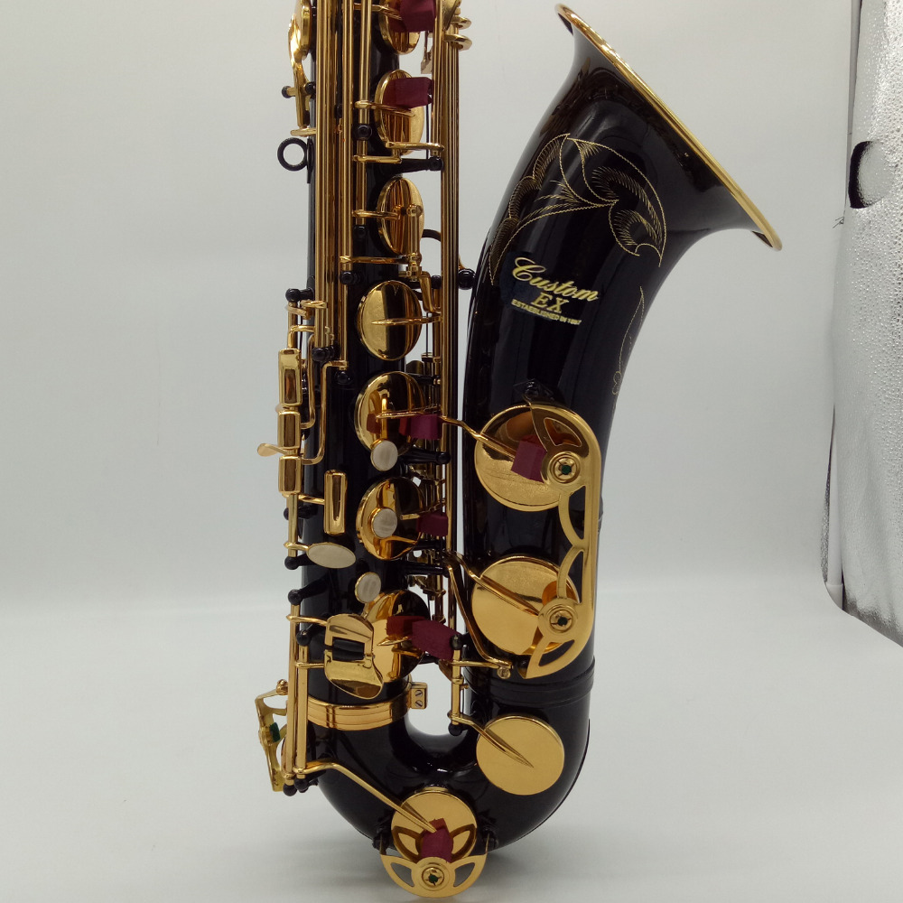 Music Fancier Club Professional Tenor Saxophones Custom EX MFCTS-875EX Black Lacquer Tenor Sax 875 Mouthpiece Reeds Neck цена