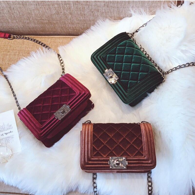 Бренды класса люкс Сумки Для женщин сумки дизайнер 2018 сумка бархатная плеча Crossbody сумки для Для женщин Каналы bolsa feminina