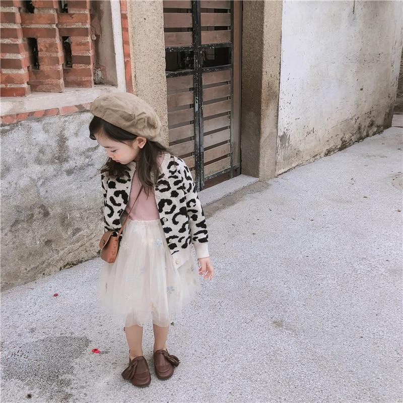 all-match manga longa leopardo-impresso camisola casaco para