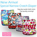 Greenbaby special narrow crotch cloth diaper with stay-dry inner,waterproof and breathable PUL,S M L adjustable,fit 5-15kg baby