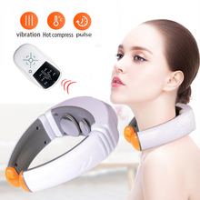 Electric Pulse Neck Massager myostimulator electric stimulator Multifunction heating physiotherapy Health Care massager for neck