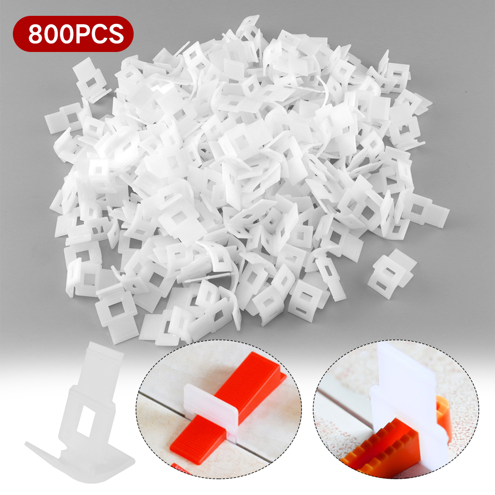 800pcs Tile Leveling System Floor Tile Alignment Clips Plastic Ceramic Spacers Tiling Installation Tools Prevent Displacement-in Tile Grout from Home Improvement    1