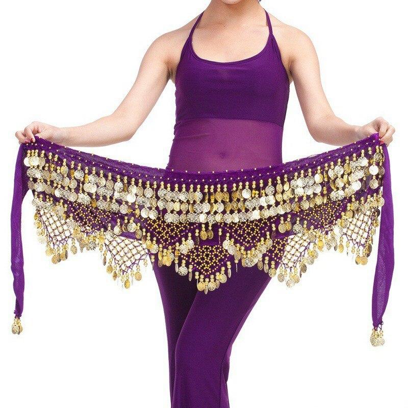 Women Belly Dance Wrap Bellydance Coin Belt Velvet Tribal Dance Costume Belly Dance Hip Female Scarf Gypsy Wings