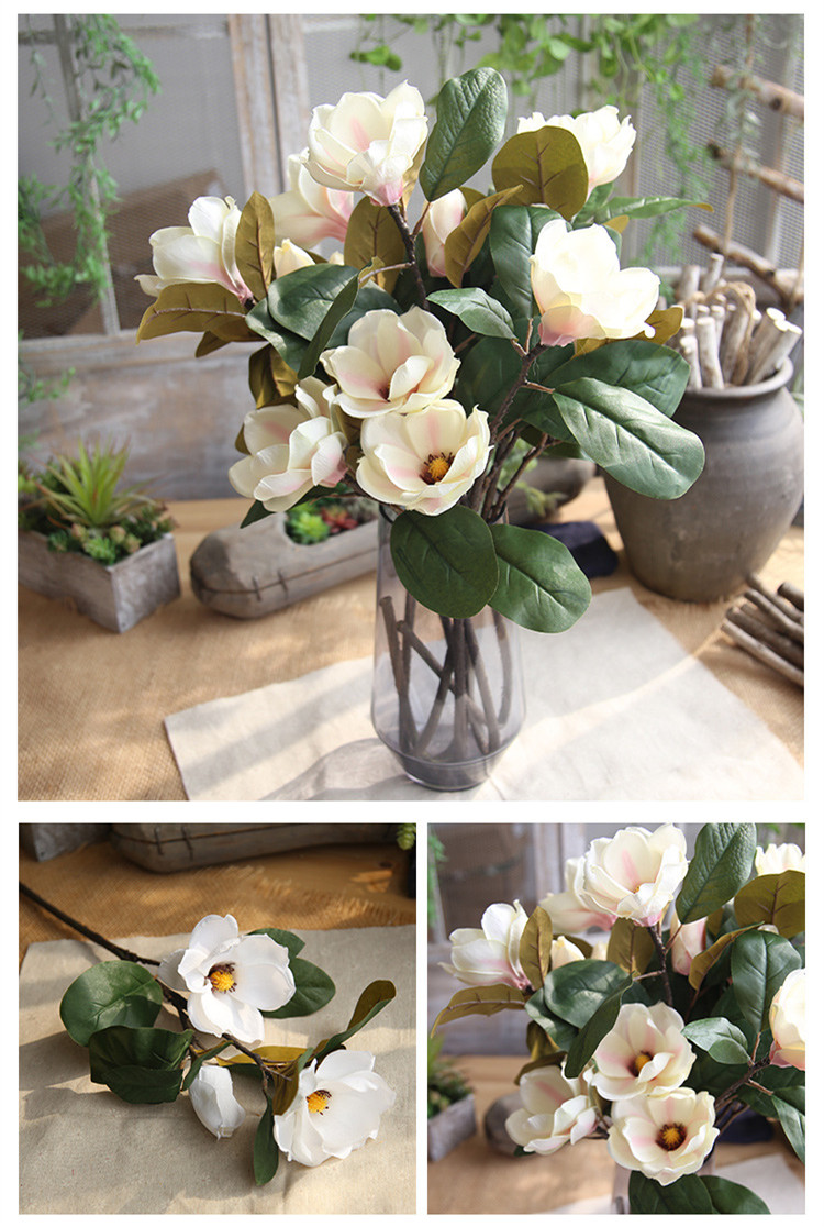 Magnolia Long Branch Flower Arrangement Artificial Flower Factory