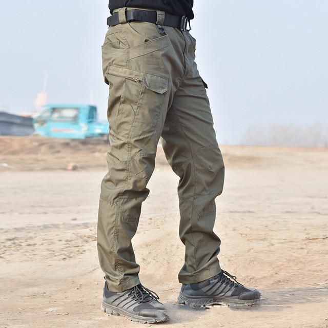 Men's Multicolor Cotton Cargo Pants