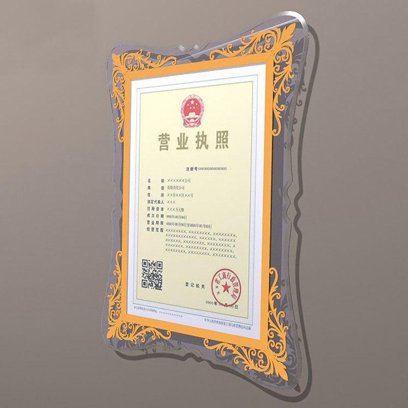 A4 Acryl Plexiglas Bilderrahmen Zertifikat Rahmen PF045 in A4 Acryl ...