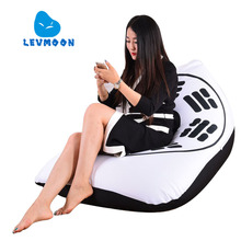 LEVMOON Beanbag Sofa Eight Diagrams Seat Zac Comfort Bean Bag Bed Cover Without Filling Cotton Indoor Beanbags Lounge Chair