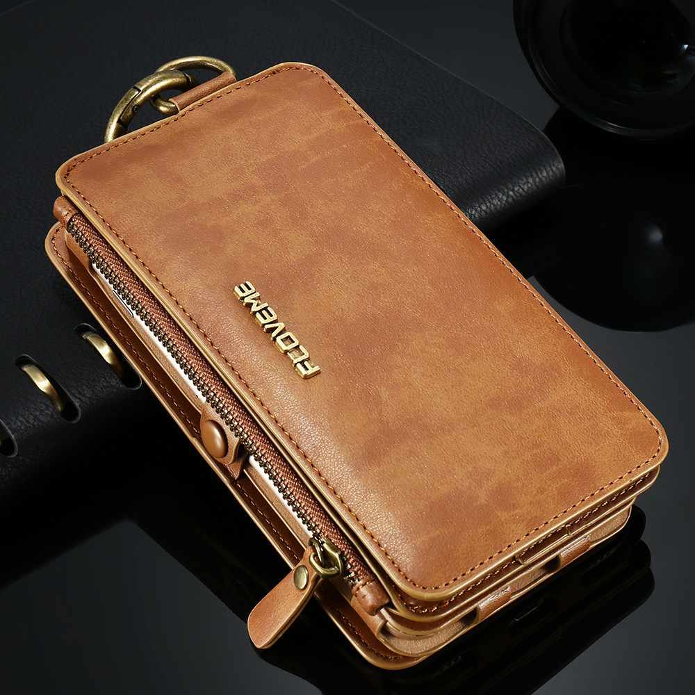 FLOVEME Classical Leather Wallet Case For iPhone X 8 7 6