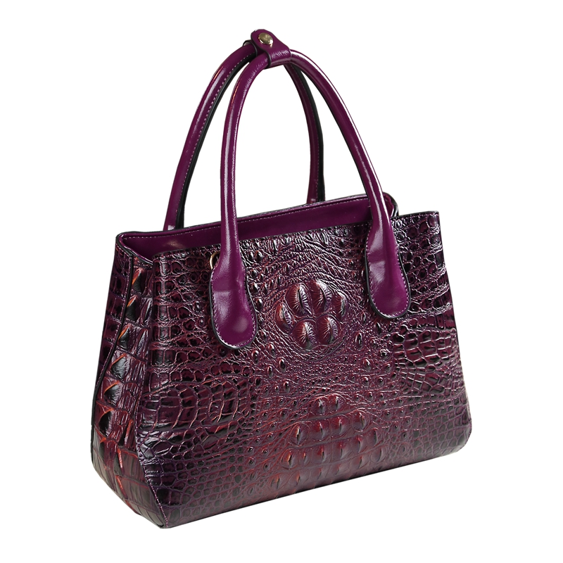 2018 new fashion designer high quality tote crocodile pattern women handbag split leather shoulder messenger bags famous brands new split leather snake skin pattern women trunker handbag high chic lady fashion modern shoulder bags madam seeks boutiquem2057