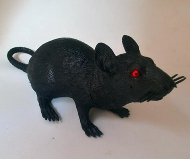 Horror Black Rubber Halloween Rat Toy Party Decoration