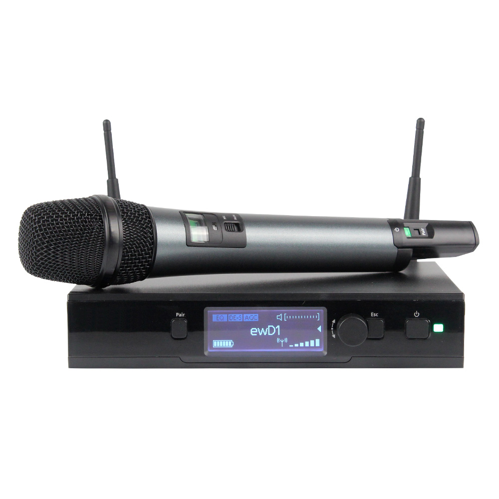 Nouveau! Système de Microphone sans fil UHF numérique véritable diversité EW D1 micro de poche professionnel unique micro de scène de son parfait