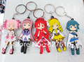 Wholesale hot sell Japanese anime Puella Magi Madoka Magica cute Keychain Set 5 pcs/lot Birthday Gift Free shipping
