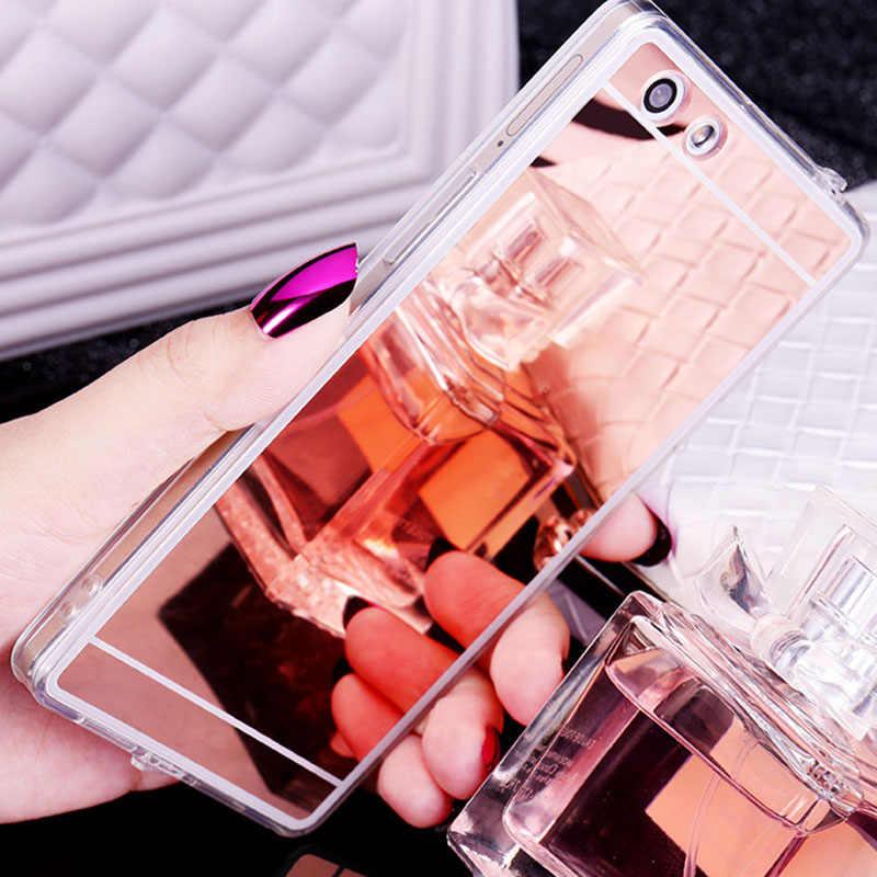 Luxury Mirror Case For Oppo R7 R7s R9 R9S R11 R11s R15 R17 F1 F3 Plus F9 A3 A7 A35 A31 A37 A51 A53 A57 A79 A59 A77 A71 Soft Case