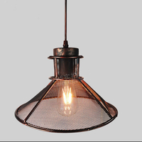 Loft Retro Iron Network Chandeliers E27 AC 110V 220V LED Lights Modern Illumination For Kitchen Cabinet