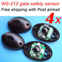 Free shipping 4 sets order with Post airmail Safety sensor for sliding and swing gate entry protection