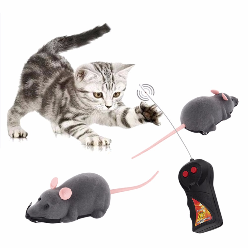 Remote Control Mouse Toy Wireless Simulation Animals Electronic Rat Funny Motion Mice Toy Pet Cat Toy gifts
