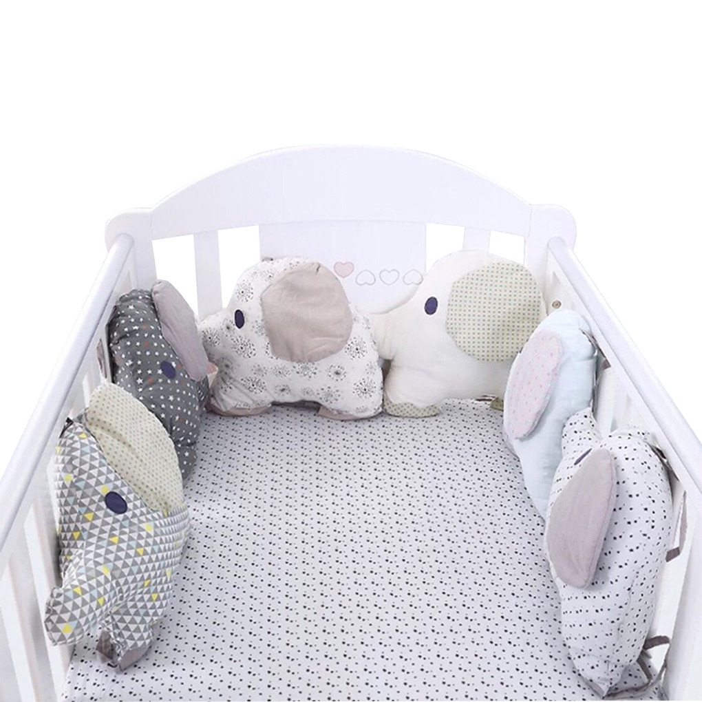 Baby Crib Bed Bumper 6pcs Newborn Backrest Cushion Animal Elephant Infant Toddler Bedding Around Protection Newborns Cot Bumper
