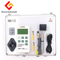 New LCD Display Portable Moisture Meters USB Automatic Temperature Humidity Test Instrument Hw100 With A Memory Device