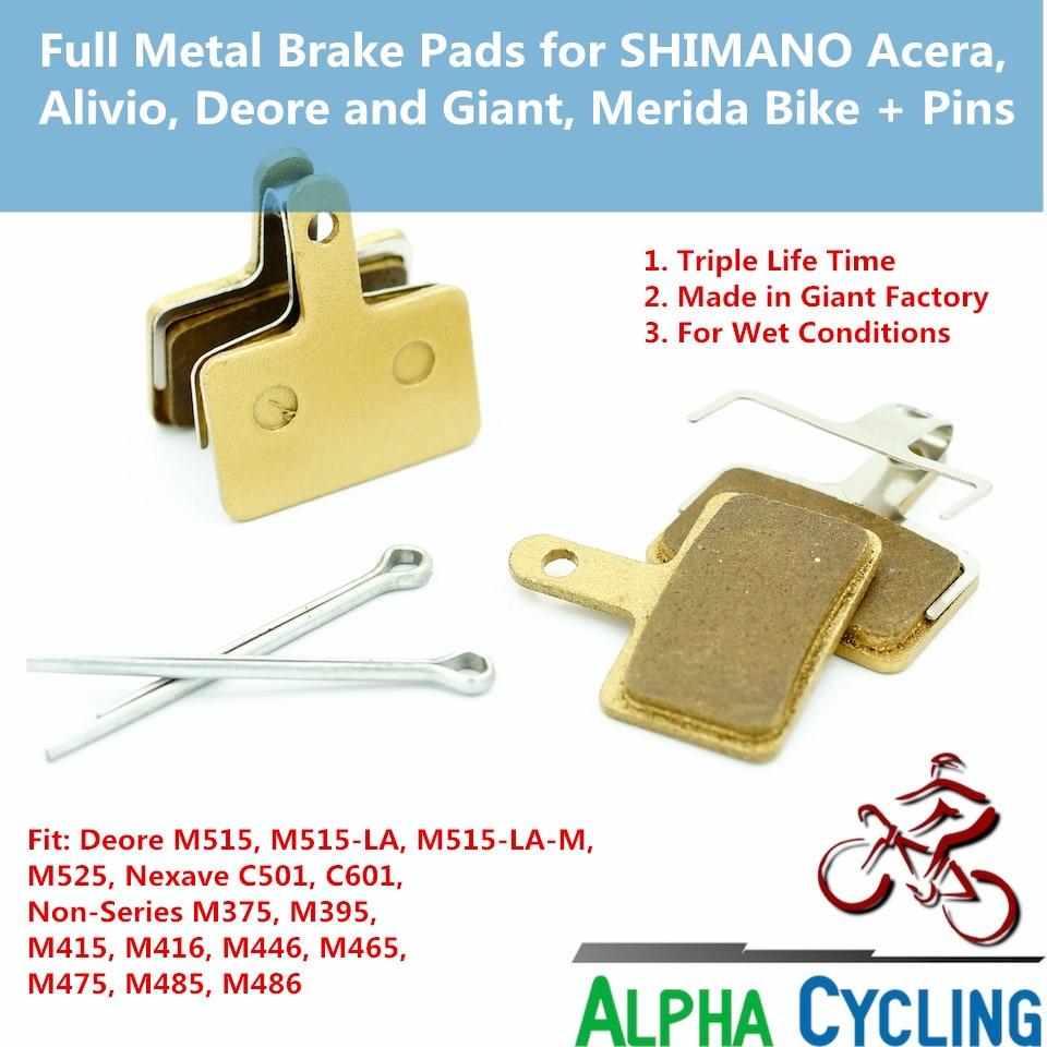 Pastillas de freno de disco de bicicleta para SHIMANO M375 M395 M486 - Ciclismo