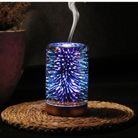 3D Ultrasonic 2 4MHZ Aroma Essential Oil Diffuser 100ML Cool Mist Humidifier Led Night Lights For