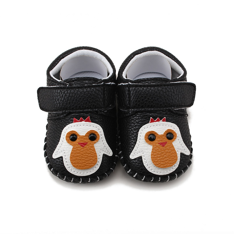 New Baby Boy Girls Spring Cute Cartoon Pattern Soft Sole PU Leather Infant Toddler Crib Shoes NEW 0-18M S2