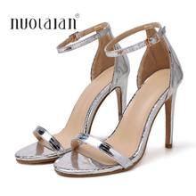 2019 New Arrival Women Shoes Open Toe Women Sandals Ankle Strap High Heels Sandals Summer Shoes Woman Sandalias Ladies Shoes(China)