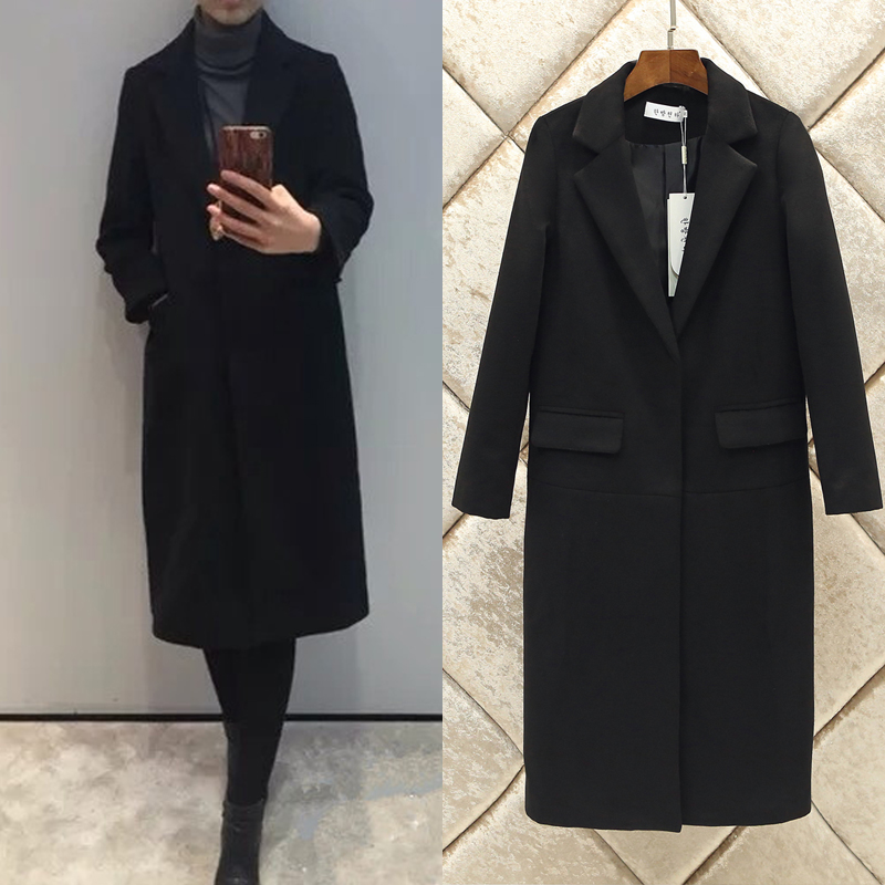 Online Buy Wholesale cashmere black coat from China cashmere black ...