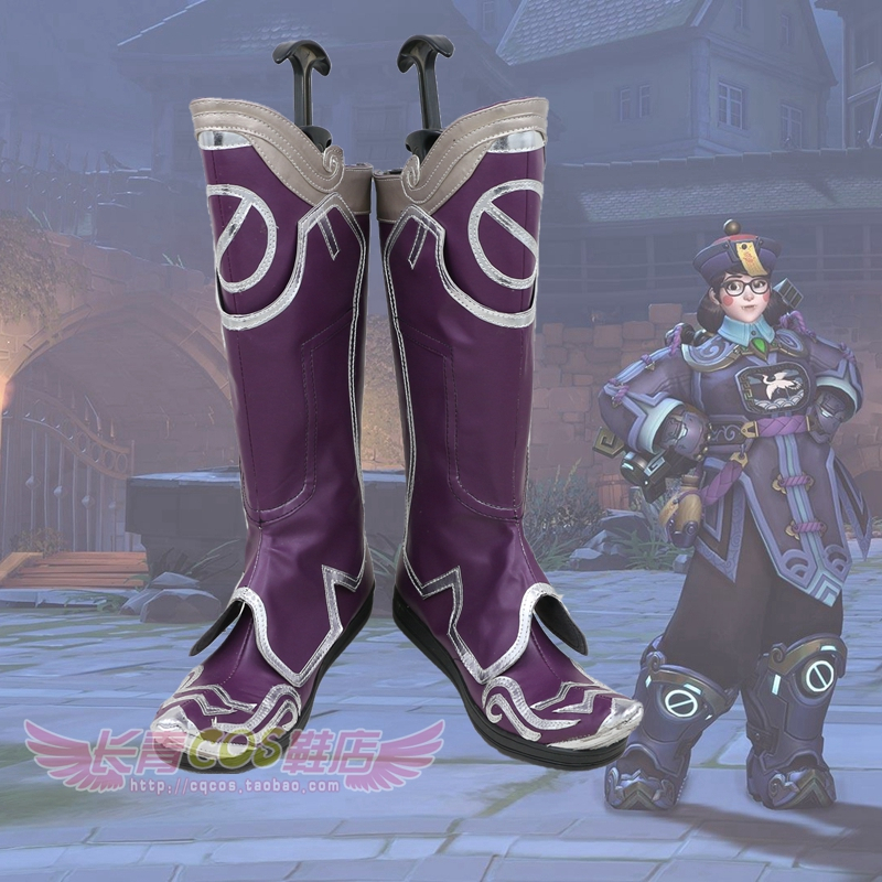 OW Zombie Xiaomei Cosplay Boots Purple Shoes