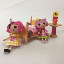 1 set of girl bedroom set Original 7cm MGA Lalaloopsy Dolls Mini lovely Dolls For Girl