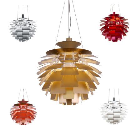Free Shipping Hot Selling Louis Poulsen PH Artichoke Lamp ,120v/230v Denmark pendant light Dia 40-100CM denmark classic design lamp louis poulsen artichoke pendant light aerospace aluminum 38cm 48cm pine cones echinacea light