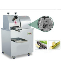 Commercial Sugarcane Juice Extractor Stainless Steel Vertical Sugarcane Juicer Full automatic Without Battery