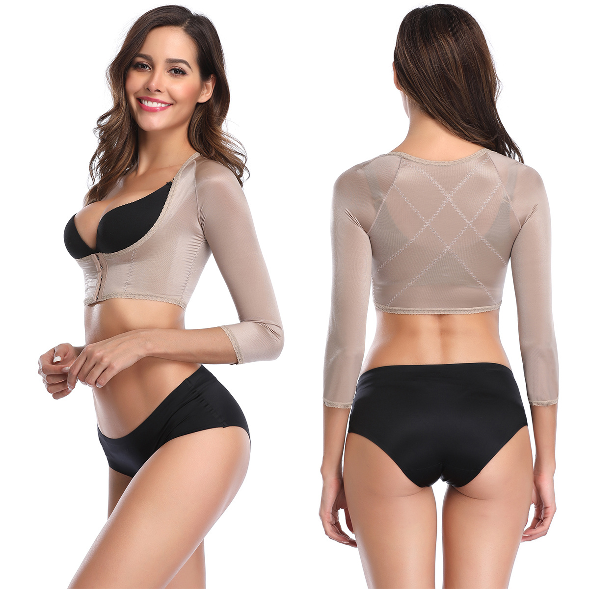 Image 2 - Humpback Posture Corrector Arm Shapers for Women Crop Tops Compression Slimming Upper Surgical Slimmer Arm Vest Shapewear-in Tops from Underwear & Sleepwears