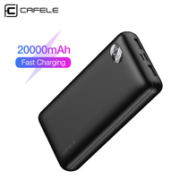 Cafele 20000mAh Power Bank Fast Charging Portable Charger Powerbank 20000 External Battery Poverbank For Xiaomi 9 iPhone Huawei