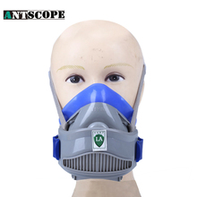 Chemical Respirator Gas Mask Rubber Protective Mask With A Filter Painting Pesticide Industrial Working Dust Halfgelaatsmasker