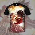 Аниме 3d Т рубашки Мужчин Бренд Clothing Высокое Качество Фея хвост 3d Печатных Моды Harajuku футболка С Коротким Рукавом Топы Camisetas Hombre